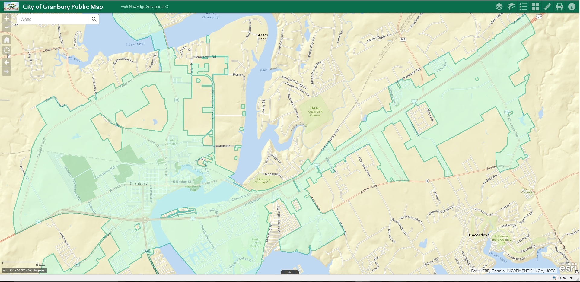 Interactive Maps | Granbury, TX - Official Website on