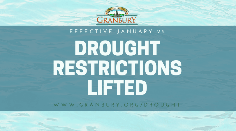 drought restrictions lifted 2019