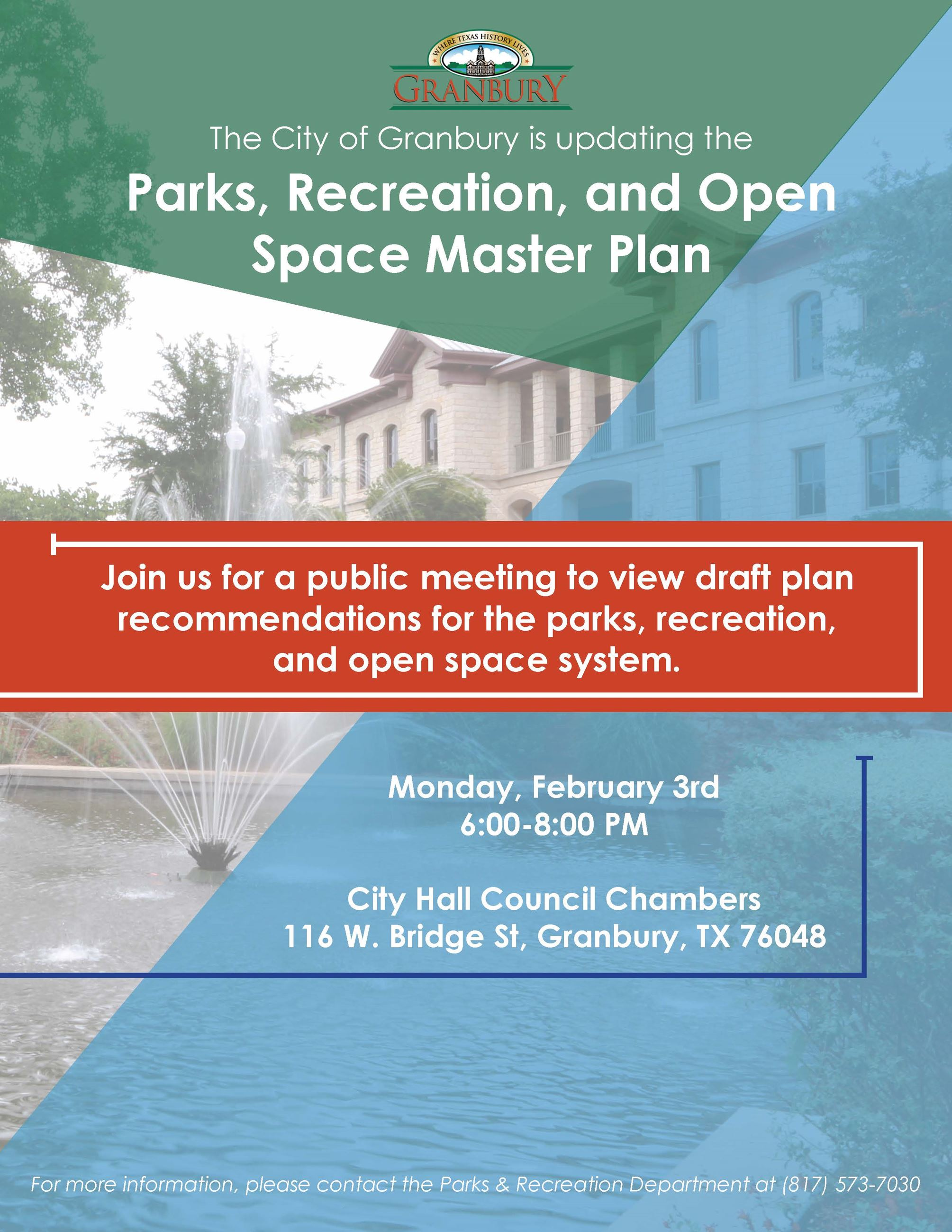 Public Meeting Flyer for February 3, 2020