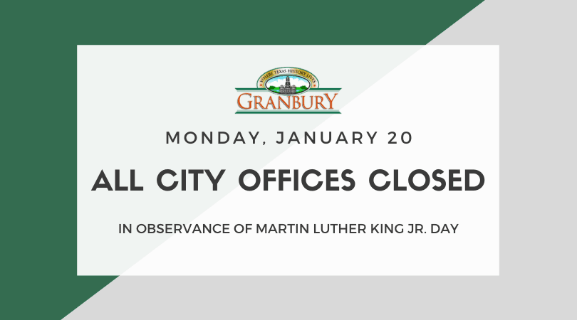 City Officed Closed for Martin Luther King Jr. Day on January 20