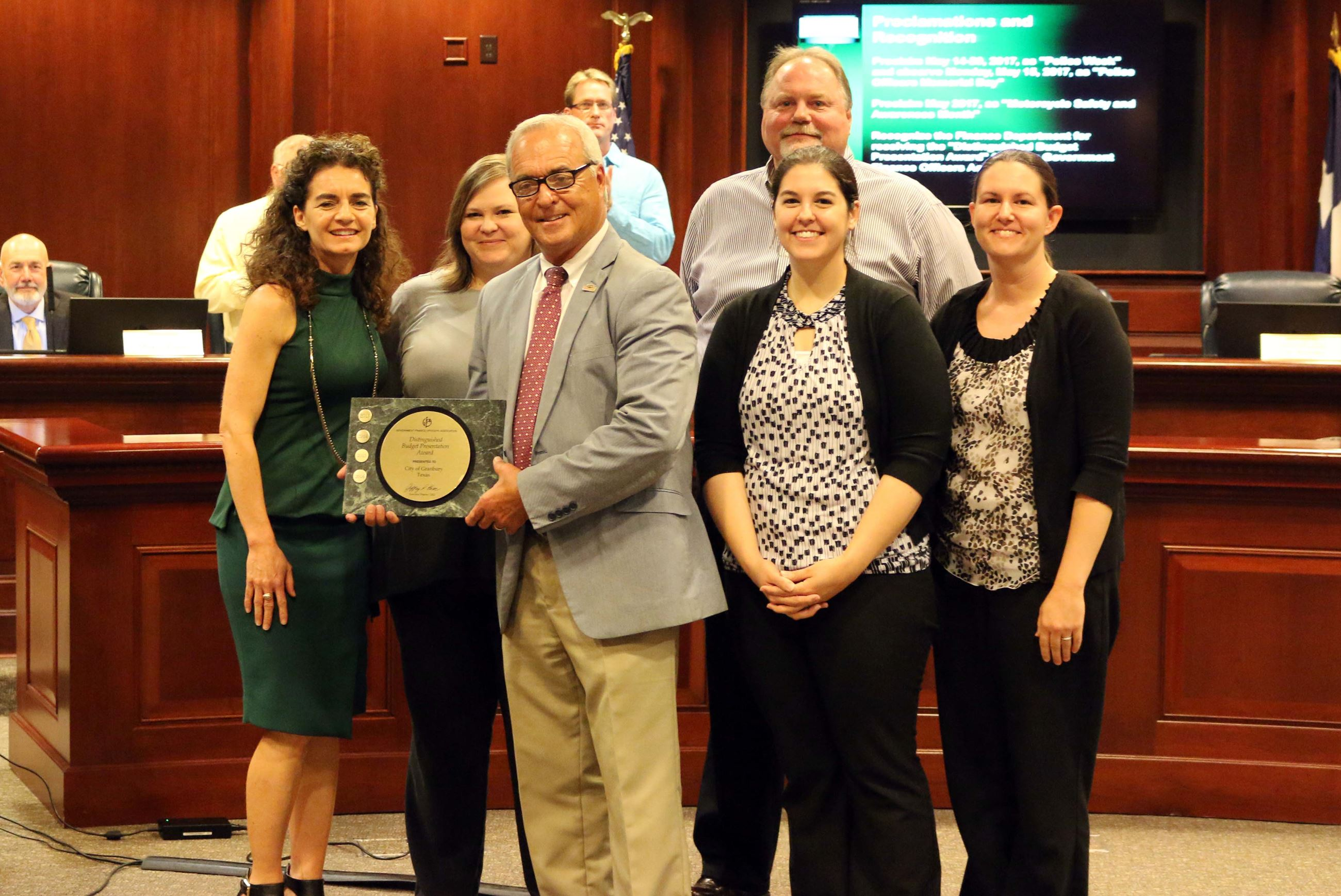GFOA Distinguished Budget Presentation Award May 2017